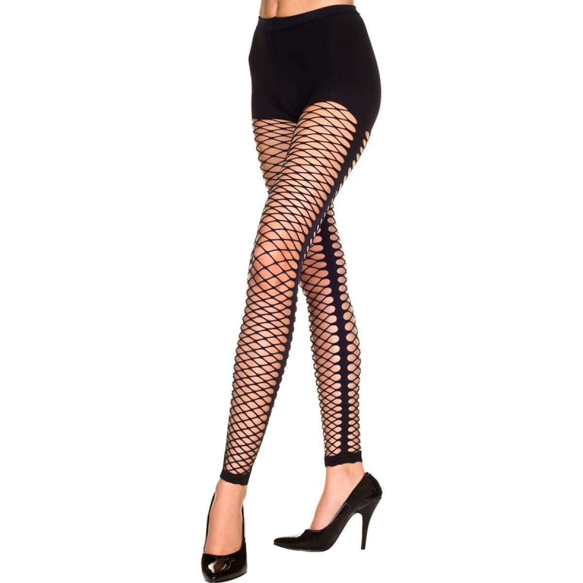 Black net leggings